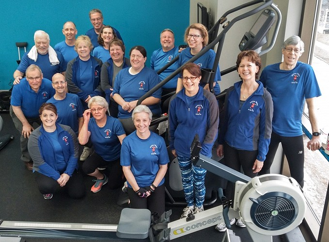 SCCCF Survive, Thrive & Be Fit Indoor Row Group Completes Fifth Annual Lake Michigan Crossing in Record Time!