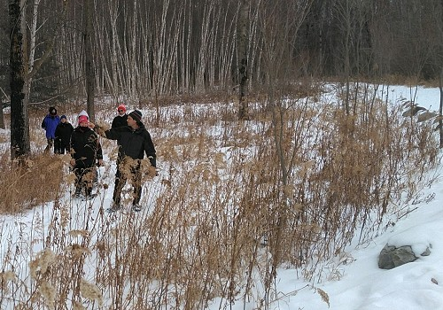 ST&BF at the Christopher Farm & Gardens (January) - Survivors on Snowshoes!!